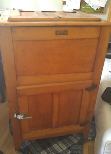 antique ice box from the Wallace Manufacuting Co. Sussex, N.B.