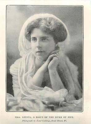 1904 Mrs Levita Niece Of The Duke Of Fife