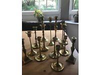Brass Candlesticks Set
