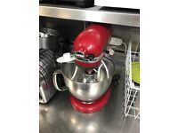 Kitchenaid Mixer Red with attachments