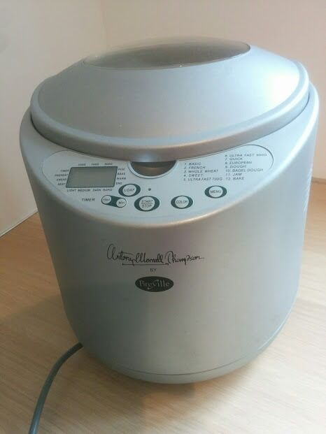 BreadmakerAntony Worrall Thompson (Brevillein Milton Keynes, BuckinghamshireGumtree - Antony Worrall Thompson breadmaker. Good condition. few scratchers on inner basket but all intact and complete with instruction booklet