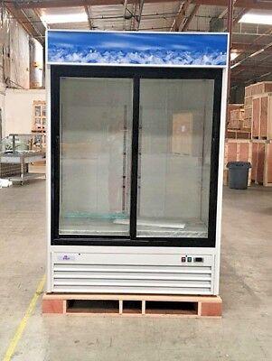 New 80 2 Sliding Glass Door Refrigerator Display Cooler Nsf Etl G1.2ym2f