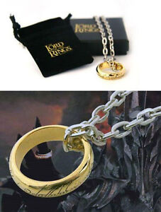 The-Hobbit-The-One-Cast-Metal-Costume-Ring-With-Chain-New-Official-In-Box