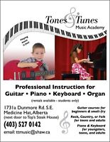 Guitar, Piano & Keyboard Lessons