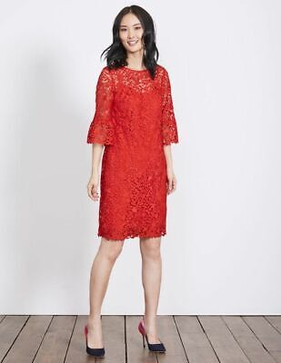 Boden Kleid - Brittany Lace Dress - Spitze Party Anlass ROT - NEU - UK 8 EU 36