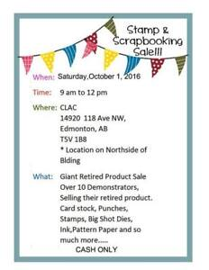 Stamp & Scrapbook Sale