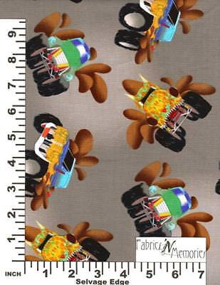 Monster Trucks Fabric Michael Miller Fabrics MMF BY THE HALF YARD F932