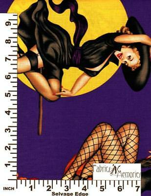 Halloween Pin Up (Bewitched Fabric Halloween Pin-up Alexander Henry F777 BY THE HALF)