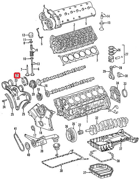 Genuine Mercedes w124 r129 w140 Camshaft Adjuster Magnet OEM Tool 1190510077
