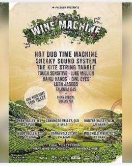 1x Hot Dub Wine Machine Yarra Valkey 24 March!!