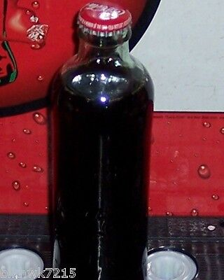 2007 HUTCHINSON EMBOSSED 9.3 OUNCE  COCA COLA BOTTLE COCA-COLA SCRIPT CAP/CROWN