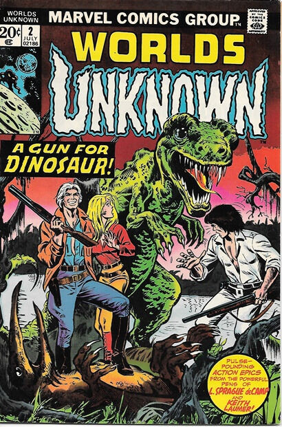 Worlds Unknown Comic Book #2, Marvel Comics 1973 VERY FINE