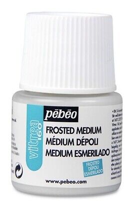 Frosted Glass Paint (Pebeo Vitrea 160 Glass Paint 45ml-Frosted Medium New!)