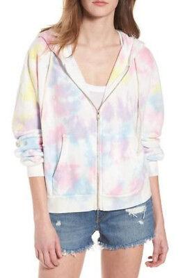 - Wildfox Couture women's tie dye pastel colors zipper hoddie NEW Sizes XS,S,M,XL