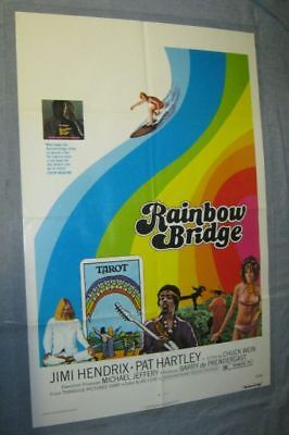Original JIMI HENDRIX RAINBOW BRIDGE Rare Legendary Movie Theatre Poster 27x41