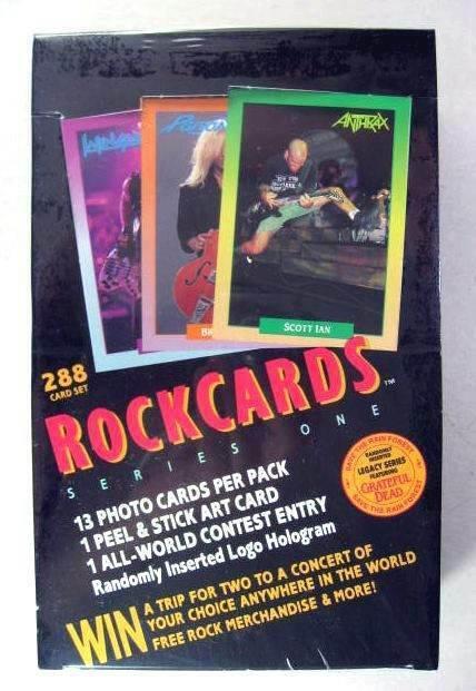 ROCKCARDS ROCK CARDS BOX 288 CARDS AC/DC KISS CRUE JOVI MEGADETH POISON SLAYER