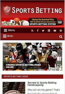 Sports Betting Ready Made Blog - Established Profitable Turnkey Website For Sale