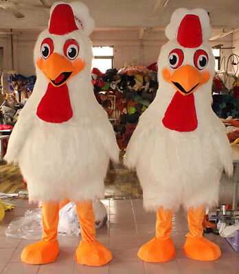 1pcs Adult Rooster Mascot Costume Fancy Dress Halloween Costume Party Chicken