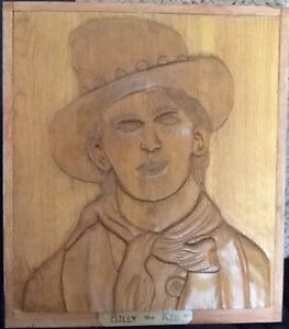 "Carved portraits2/$50 ""BILLY THE KID"" or  ""ROBERT. E. LEE:   New"