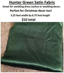 Green satin fabric (hunter green/forest green colour) St. John's Newfoundland image 1