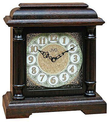Klassische Tischuhr Kaminuhr  Uhr Westminster Stundenschlag Nußbaum