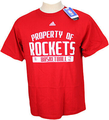 Adidas NBA Men's Houston Rockets Short Sleeve T-Shirt, Red, Medium Adidas Houston Rockets Short Sleeve T-shirt
