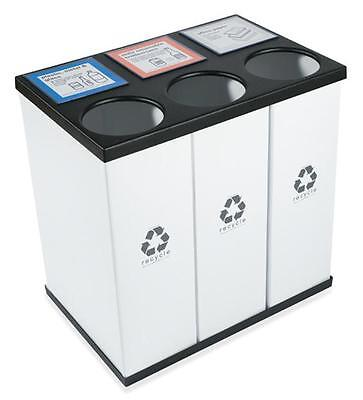 Recycle Recycling Bin- (3) 33 gal. Great for offices & schools. Custom labels.