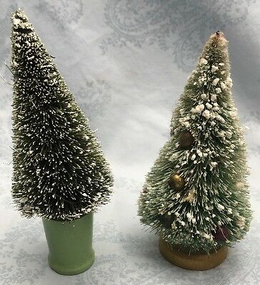 "Vintage Christmas Trees Used On""0""scale Trains Set"