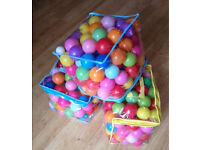 Coloured plastic balls