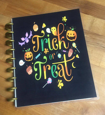 Fall Halloween Trick or Treat Candy Front/Back Cover Set for use w Happy - Halloween Treats For Office