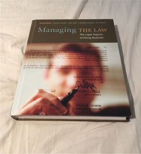Managing the Law 2nd Ed. Hard Copy - Great Condition