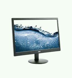 """AOC e2070Swn 19.5"""" LED Monitor. Pc/computer"""