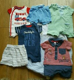 Baby boy bundle - Summer outfits, newborn and 0-3
