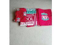 Liverpool duvet, pillowcases and curtains