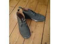 Dr Martens green canvas ankle boots size 6
