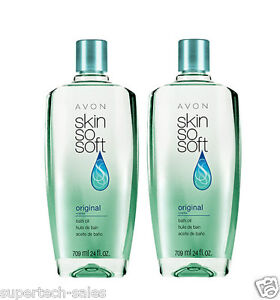 Lot of 2 Avon SKIN SO SOFT Original Bath Oil - 24 fl. oz.