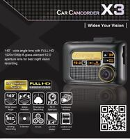 "Car Dash Cam Camera Voiture Aiptek X3 2.4"" FULL HD 1920x1080p"