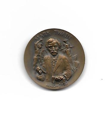 Bronze Mark Twain Tom Sawyer Huckleberry Finn Longines Wittnauer Coin Medal
