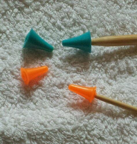 Maschenstopper Stricknadelschutz 2 kleine +2 große zufällige Farbe