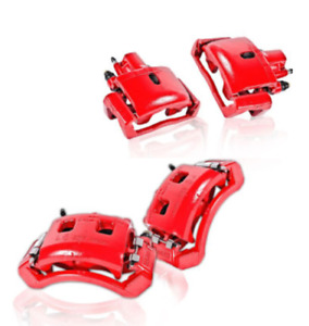 New Front+Rear powder Red Brake Calipers 2010-16 Hyundai genesis