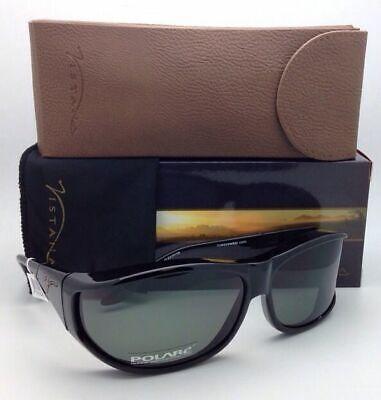 Polarized VISTANA Sunglasses W402G Fits Over Medium Rx Eyeglasses Black w/ (Vistana Sunglasses)