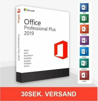 ⚡️⚡️MS®Office Pro 2019✔️ PLUS✔️32/64✔️Professional✔️Key✔️Vollversion✔️MS Retail: