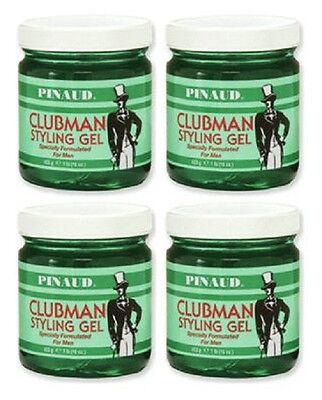 4X Pinaud Clubman Hair Styling Gel for Men 16 oz -  PRIORITY