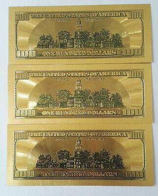 Old Version 50p $100 dollar Gold Foil Golden USD Paper Money Banknotes Crafts NI