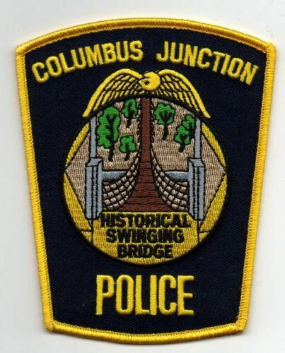 IOWA IA COLUMBUS JUNCTION POLICE NICE PATCH SHERIFF