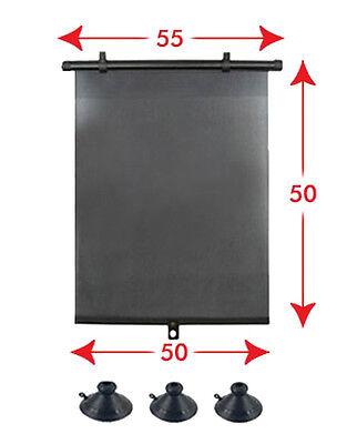 2 x Protezione Solare AUTO Tenda da sole 55 cm Tendina Parasole avvolgibile