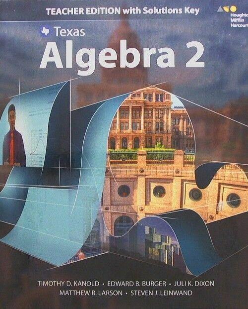 HMH Texas Algebra 2 Teacher Edition With Solutions Houghton Mifflin Harcourt