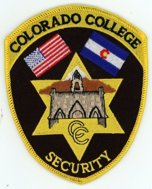 COLORADO CO COLLEGE SECURITY COLORFUL PATCH POLICE SHERIFF