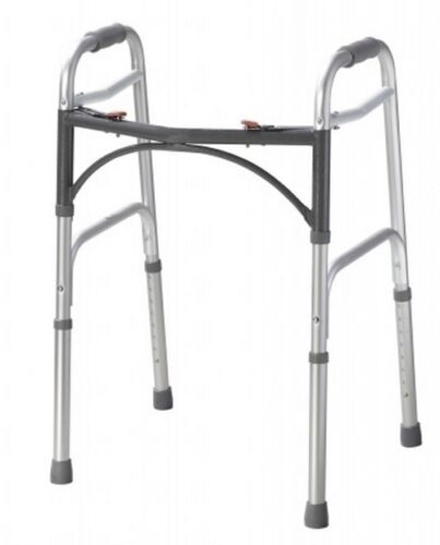 """Dual Release Folding Walker Adult drive Deluxe Aluminum 350 lbs 32to39"""" Each/1"""