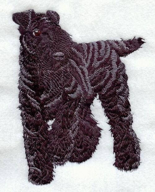 Embroidered Ladies Fleece Jacket - Kerry Blue Terrier I1207 Sizes S - XXL